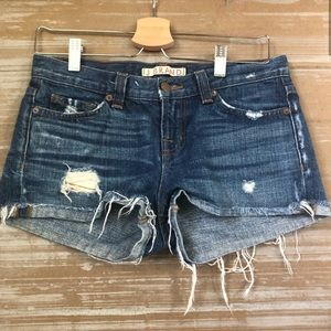 J Brand Mako Denim Distressed Shorts Sz 25